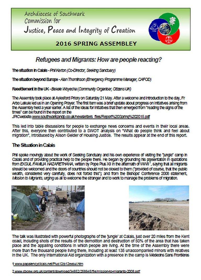JPIC Assembly Report
