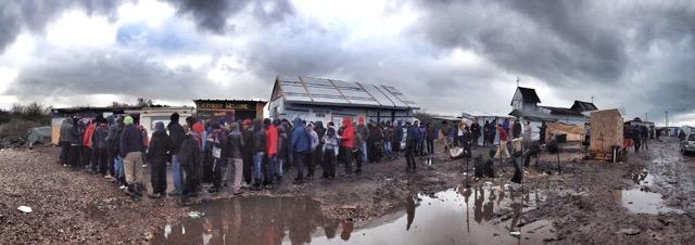Calais Migrant Food Queue